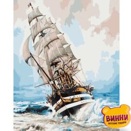 Купити картину за номерами STRATEG Корабель на хвилях, вітрильник 40*50 см, VA-2506