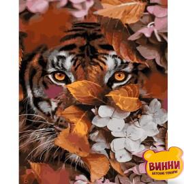 Купити картину за номерами STRATEG Осінній тигр, 40*50 см, VA-2750