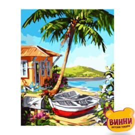Купити картину за номерами Strateg Човни на острові, 40*50 см, VA-3076