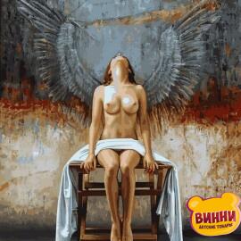 Купить картину по номерам Babylon Девушка с крыльями ангела, 40*50 см VP1421