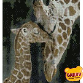 Купити алмазну мозаїку STRATEG Жирафа з дитинчам, 30*40 см, HX204