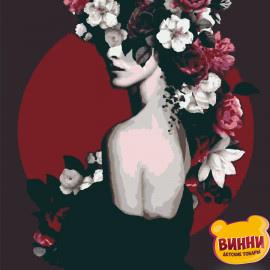 Купити картину за номерами Riviera Blanca, Дівчина з квітами, 40*50 см, RB-0234