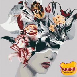 Купити картину за номерами Riviera Blanca, Дівчина з квітами, 40*50 см, RB-0237