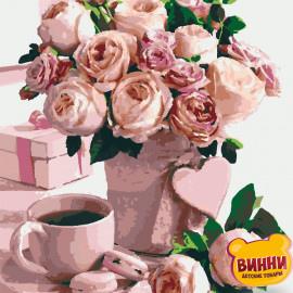 Купити картину за номерами Riviera Blanca, Квіти для коханої, троянди, 40*50 см, RB-0242