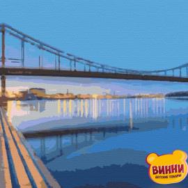 Купити картину за номерами Riviera Blanca, Міст над Дніпром, м.Київ, 40*50 см, RB-0274