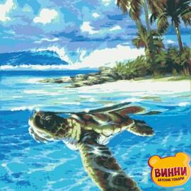 Купити картину за номерами Riviera Мандри, черепаха, 40*50 см, RB-0417