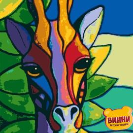Купити картину за номерами Riviera Африканський вітраж, жирафа, 40*50 см, RB-0418