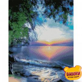 Купити алмазну мозаїку STRATEG Захід сонця на березі океану, 40*50 см, FA20201