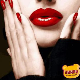 Купить картину по номерам Mariposa Алые губы, 40*50 см Q2263