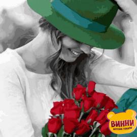 Купить картину по номерам Mariposa Девушка с розами, 40*50 см Q2268