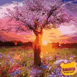 Купить картину по номерам Mariposa Перевоплощение, дерево, девушка, 40*50 см Q2269