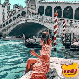 Купить картину по номерам Mariposa На берегу канала. Венеция, 40*50 см Q2271