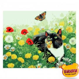 Котик у полі квітів, 30*40 см, SV-0059