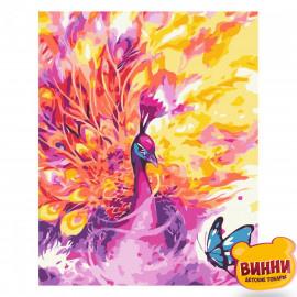 Купити картину за номерами Strateg Барвистий павич, 30*40 см, SV-0076