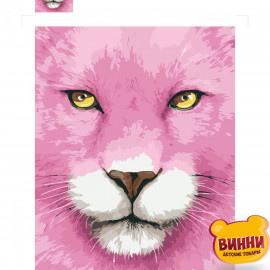 Купити картину за номерами Strateg Рожева левиця, 30*40 см, SV-0086
