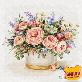 Купити картину за номерами Ідейка, Тендітні троянди © Олена Вавіліна, 50*50 см KHO3164