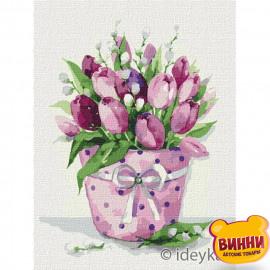 Купити картину за номерами Ідейка, Тюльпанова ніжність, тюльпани © Олена Вавіліна, 30*40 см KHO3167