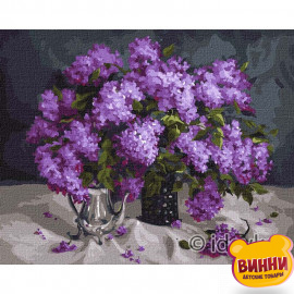 Купити картину за номерами Ідейка, Ароматний бузок © Юлія Томеско, 40*50 см KHO3178