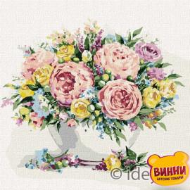 Купити картину за номерами Ідейка, Мікс квітів © Олена Вавіліна, 40*40 см KHO3179