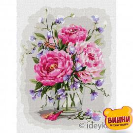 Купити картину за номерами Ідейка Звабливий аромат квітів, півонії © Олена Вавіліна, 30*40 см KHO3182