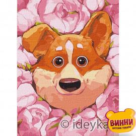 Купити картину за номерами Ідейка, Квітучий коргі © Софія Нікуліна, 30*40 см KHO4234