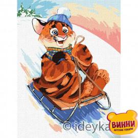 Купити картину за номерами Ідейка, Розваги тигра © Софія Нікуліна, 30*40 см KHO4244