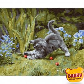 Купити картину за номерами Ідейка, Грайливе кошеня © Юлія Томеско , 40*50 см, KHO4251