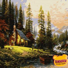 Купити картину за номерами Artissimo, Затишний будинок Т. Кінкейд, 40*50 см, 50*60 см, PN8201