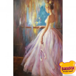 Купити алмазну мозаїку Прима балерина, 30*40 см, на підрамнику, в коробці, H8702