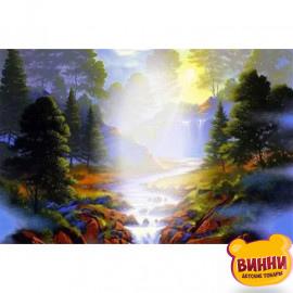 Купити алмазну мозаїку Ранковий туман, 30*40 см, без підрамника, H8701-2