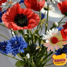 Купить картину по номерам Babylon Букет полевых цветов 40*50 см VP1037