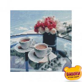 Купити алмазну мозаїку STRATEG, Сніданок біля моря, 30*30 см, CA-0005