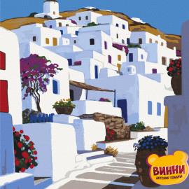 Купить картину по номерам Art Craft, Санторини Греция, 40*50 см 11218