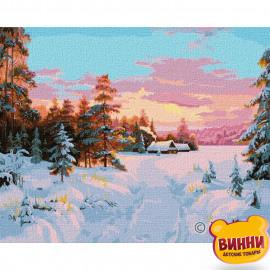 Купити картину за номерами Ідейка, Дорога додому, зима, зимовий пейзаж, 40*50 см KHO2841