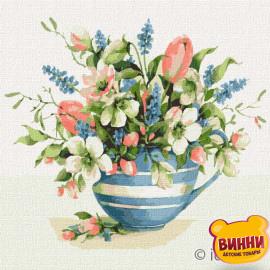 Купити картину за номерами Ідейка, Весняна композиція © Олена Вавіліна, 30*30 см KHO3184