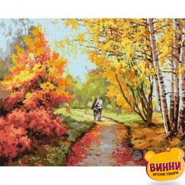 Купити картину за номерами Ідейка, Осіння прогулянка, осінь, 40*50 см KHO4796