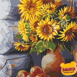Купить картину по номерам ArtStory AS0653 Яркие подсолнухи