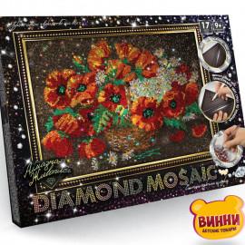 """Набор для творчества """"Алмазная мозаика Diamond mosaic"""", 30*40 см, в коробке, маки"""
