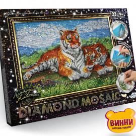 """Набор для творчества """"Алмазная мозаика Diamond mosaic"""", 30*40 см, в коробке, тигры"""