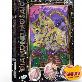 "Набор для творчества ""Алмазная мозаика Diamond mosaic"", 30*40 см, в коробке, котята"