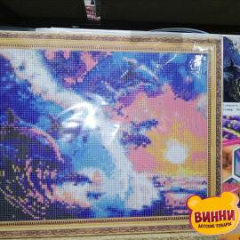 Купити алмазну мозаїку Дельфіни, 30*40 см, GB74851