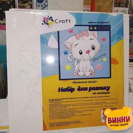 """Купить картину по номерам Art Craft 30*30 см """"Белый кот"""" 15502"""